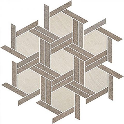 Brave Hex Weave Ivory, Brown