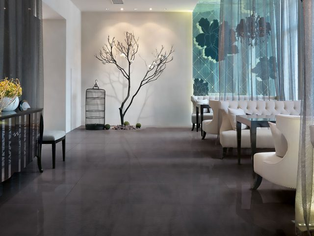 Forever Through Body Black Porcelain Tile Installation