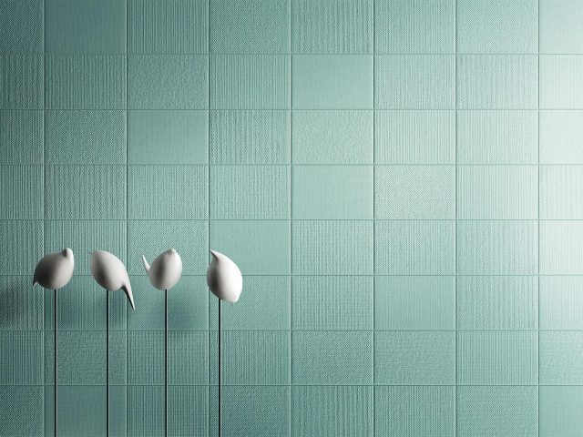 Kiko Porcelain Wall Tile Collection in Aquamarine Flat and Textured Tiles