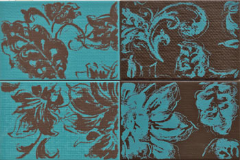 Kiko Teal and Brown Decor Tiles