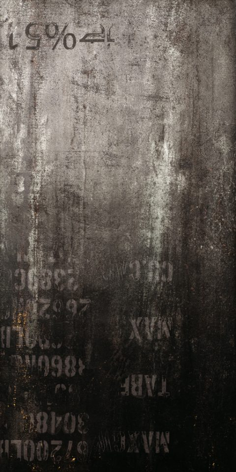 Metalized Black 24x48 Cipher