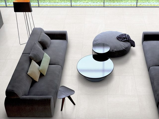 Basalt Porcelain Tile Collection Living Room