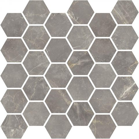 Bateau Imperial Grey Hexagon Mosaic