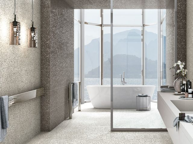 Begosso Porcelain Tile Bathroom Installation