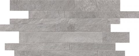 Cascade Light Grey Random Strip Mosaic