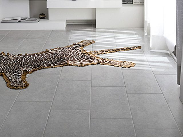Coalesce Collection Concrete-Look Porcelain Floor Tile Installation