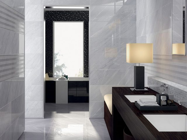 Deluxe Marble-Look Porcelain Tile Collection