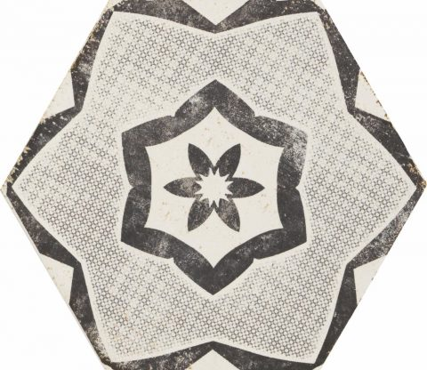 Resort White Patterned Hex Decor 2