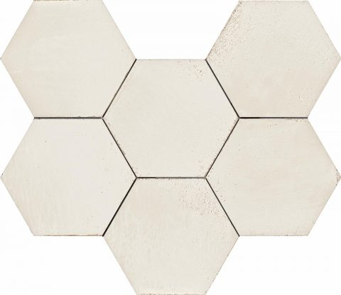 Resort White Hex Decor